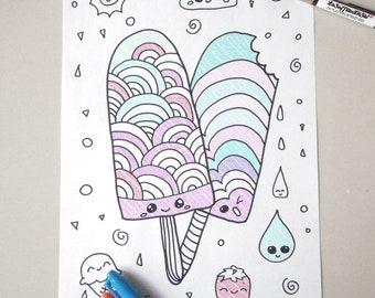 Kawaii Coloring Book: A Super Cute Coloring Book: Kawaii, Manga ... | 270x340