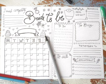 photograph about Diy Planner Organizer titled Marriage planner magazine wedding ceremony Programs routine diary do it yourself