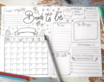 wedding planner journal wedding ideas agenda diary diy planner etsy