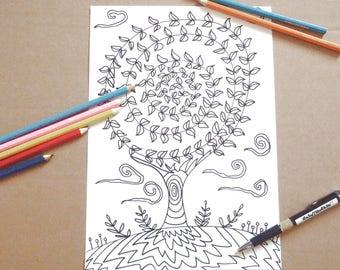 Disegno Bagno Da Colorare : Kawaii disegno da colorare per bambini e adulti amanti etsy