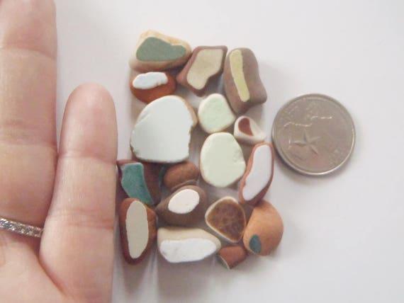 Mini pezzi di ceramica italiana di mare piastrelle etsy
