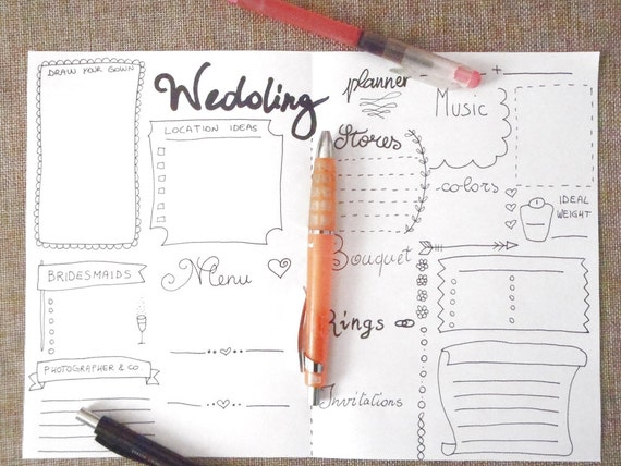 Wedding Planner Journal Ideas Agenda Diary Diy
