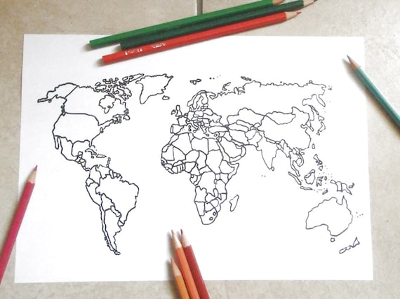 photograph regarding Printable Globe Template referred to as printable blank map world-wide coloring template etsy income journaling grownup coloring entire world nations around the world schooling dwelling print electronic lasoffittadiste