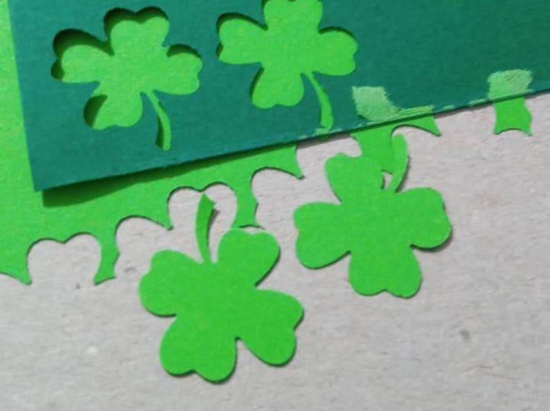 4 Quatre Feuilles Trèfle Shamrock Table Confettis Irlandais Paillette Vert Non Hangar paillettes