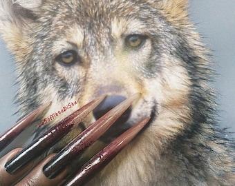 werewolf nails halloween costume witch zombie wolf talons