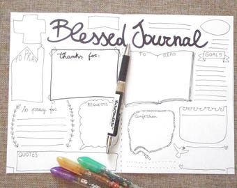 blessed bullet journal printable planner agenda pray bible church prayers religion bujo plan organizer diary pray download lasoffittadiste