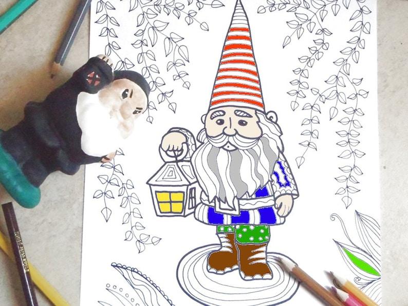 95421e8d884 Garden gnome adults coloring kids dwarf gift fantasy