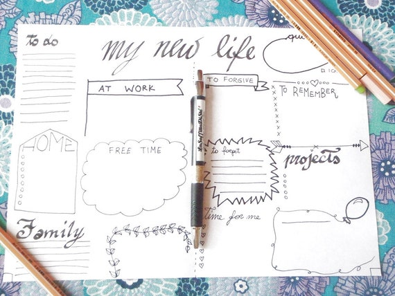 picture about Free Printable Home Organizer Notebook identified as refreshing lifetime printable magazine planner schedule reborn zen bujo bullet journaling organizer laptop diary positivity down load lasoffittadiste