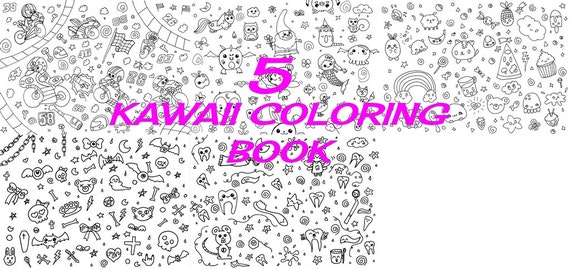 Kawaii Coloring Book Ebook Pdf Kids Colouring Chibi Fairy Lei Etsy