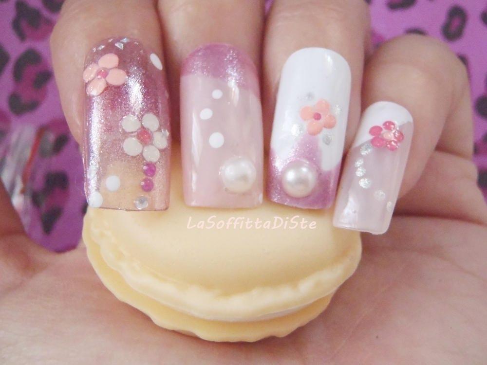 3d false nails squareletto japan style squoval fake press on nail ...
