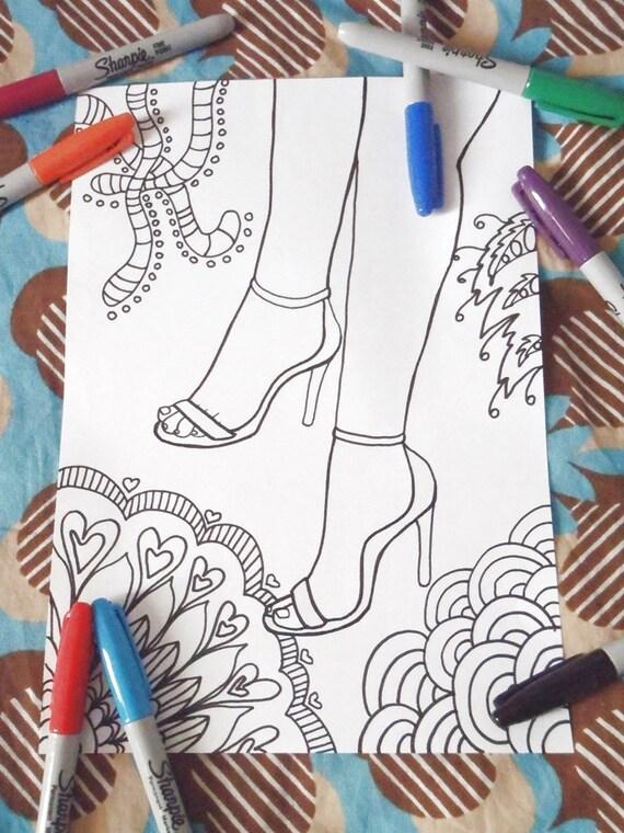 scarpe donna colorare adulti spillo Etsy tacco 12 tacchi a da gwB5qg