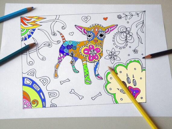 Carta Da Parati Bambini Fanny Dogs: Cane Chihuahua Disegno Da Colorare Bambini E Adulti