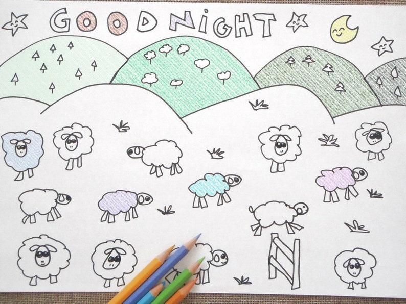 Kawaii Pecorelle Da Colorare Pecore Colorare Per Bambini Buona Etsy