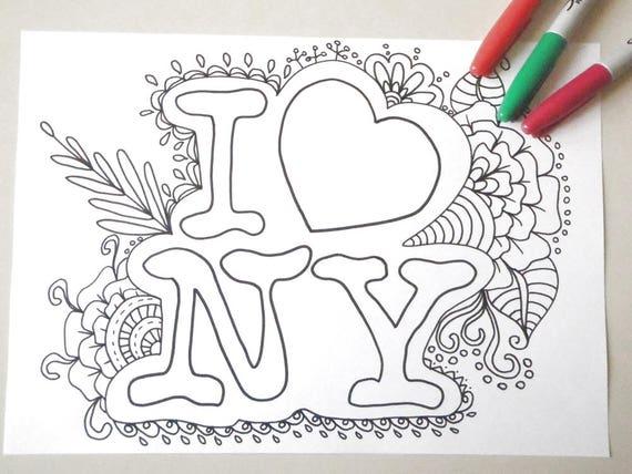 88+ Coloring Book New York HD