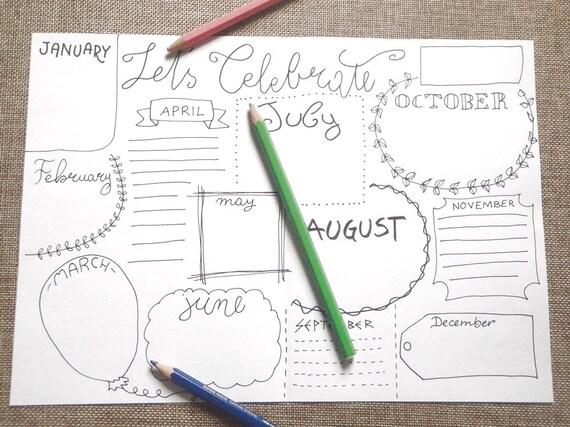 Organizer Ufficio Fai Da Te : Date da ricordare giornale diario planner agenda bianco etsy