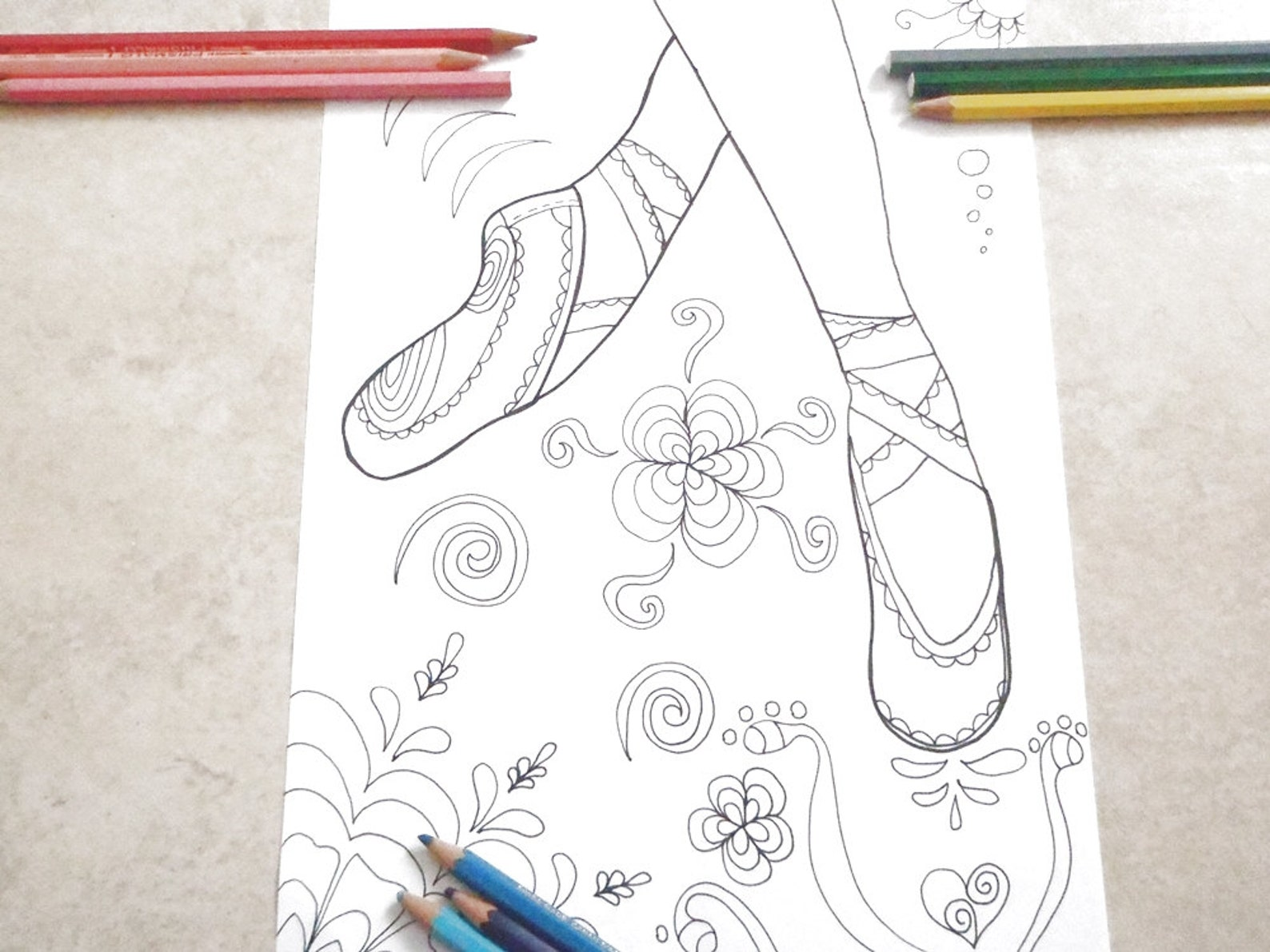 ballet shoes ballerina dancer coloring girl gale adults classic dance slipper foot lover 足 fetish feet leg fashion perv art laso