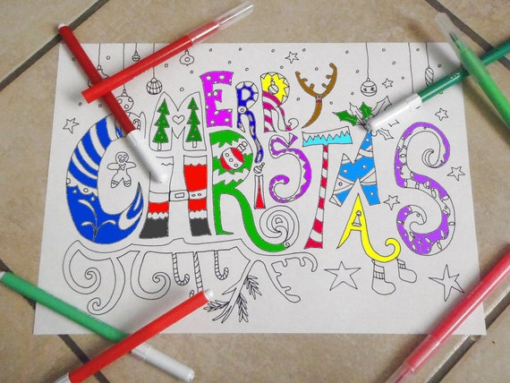 christmas adult coloring book kids christmas in july download