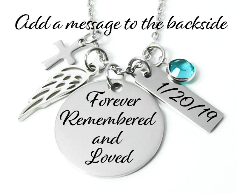 Sympathy Gift Memorial Necklace Memorial Jewelry -Loss A Piece Of My Heart Is In Heaven Memorial