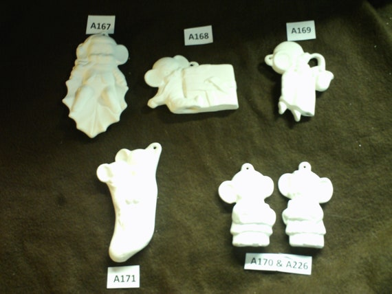 Sock Ask about Custom Lot 6 Ceramic Bisque Alberta Mouse Ornaments Choir Saxophone Leaf package
