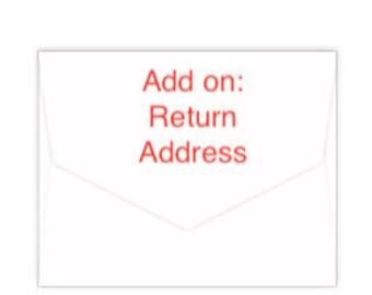 Add on: Return Address