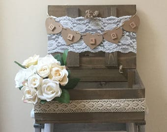 Wedding Cards, Rustic, Vintage , ,Photo booth, Shabby chic Wedding props box,Wedding card suitcase