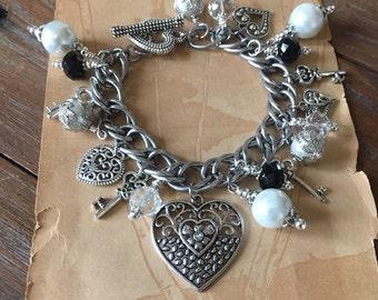 Key to My Heart Charm Bracelet. Love.