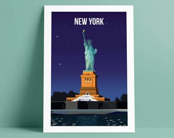 Liberty Night A4 Print