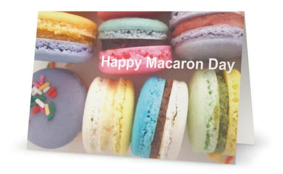 Happy Birthday Card French Macaron Lover Cute