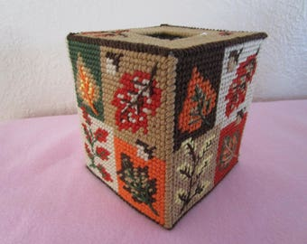 Fall Leaves are Falling, Tissue/Kleenex Holder, Great Fall Decor or Gift for a Special Person