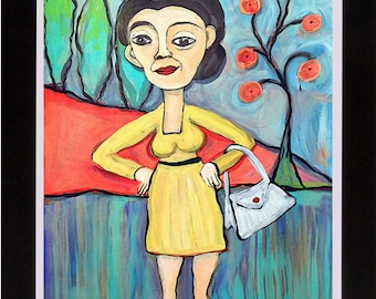 Lady with Purse - Digital Download File