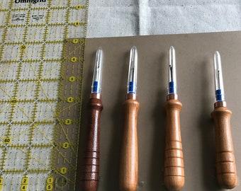 Handturned wood handled seam rippers