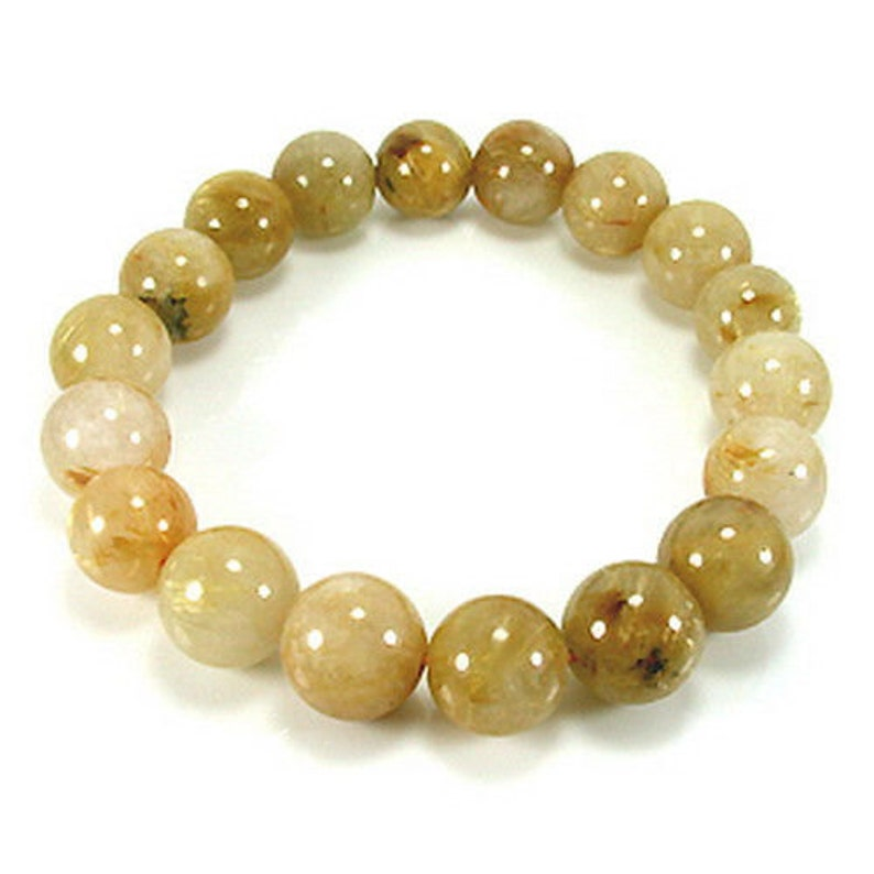 198.60 Cts Incredible Round Shape Natural Rutilated Quartz Beads Easter Gift Birthday Gift Wedding Anniversary