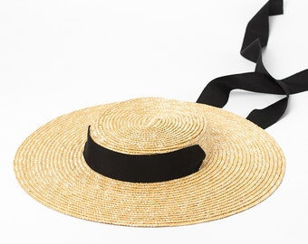 Simple and fashionable tie straw straw straw straw straw straw straw hat  travel sun - proof beach straw hat ce5bb16286d