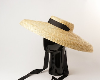 57a6be08 ropean and American retro flat top under a large folding hat brim straw hat  stage show modeling large brim straw hat sun hat