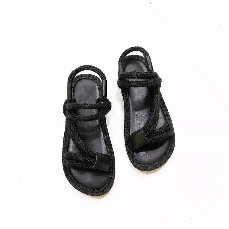 Tresse Paille Ceinture Couvre Un Chaîne Fin Construire De Sandale Show Pied Chaussure Prononcé Femme À Mot 100 F1cTlKJ