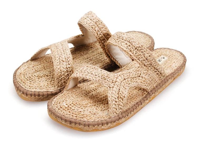 Handgefertigte Sommer Sandalen Sohlen Herren Stroh Dicken Hausschuhe SzMUpV