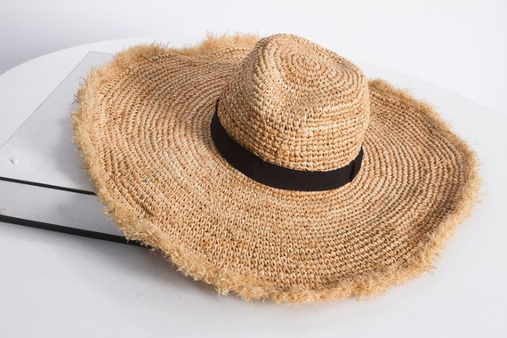 Hat 16cm Wide! Miniature Straw Hat Made in Haiti Stripey!