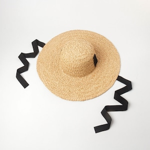 New hollowed-out woven drooping large-brim sisal straw hat outdoor sunshade sun protection beach along the big pot straw hat