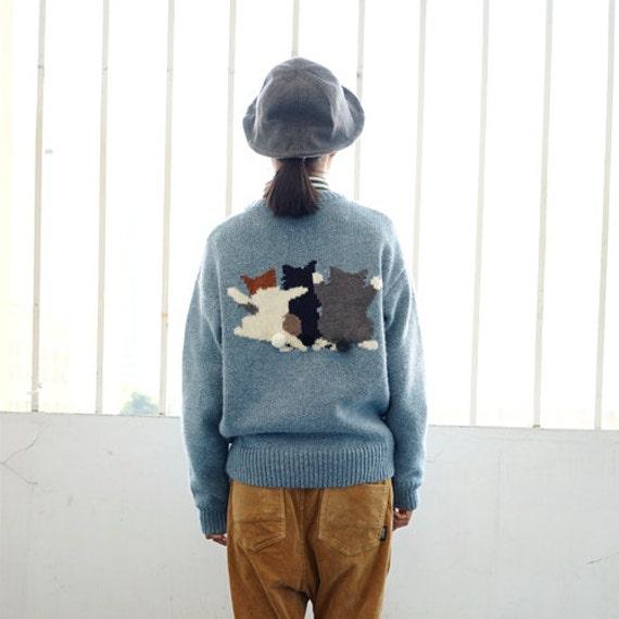 Para hacer punto jersey pura mano teje suéter lindo precioso | Etsy