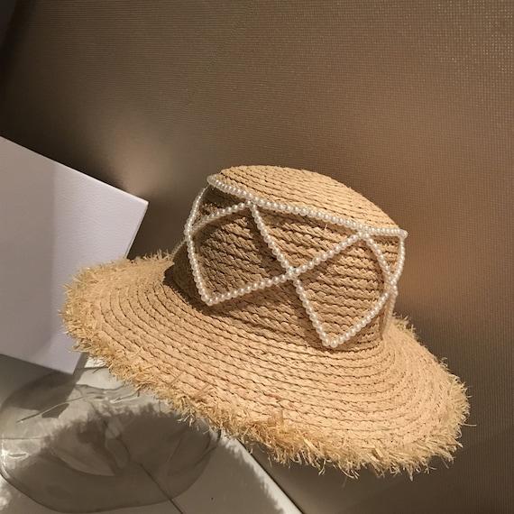 Lafite grass ball decorator plaited straw straw flat top hat travel sunscreen straw hat