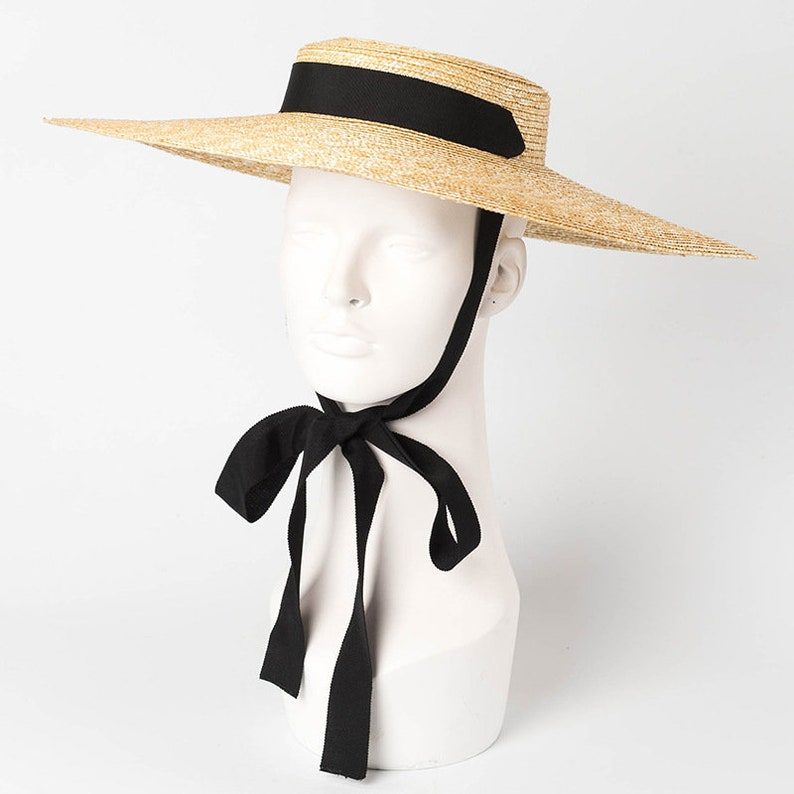 96799d632a061 Flat-topped large eaves with straw straw hats fashion stage
