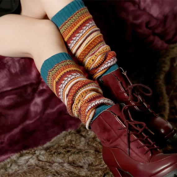 Stiefel Socken MARINEBLAU häkeln Boot-Manschetten Boot