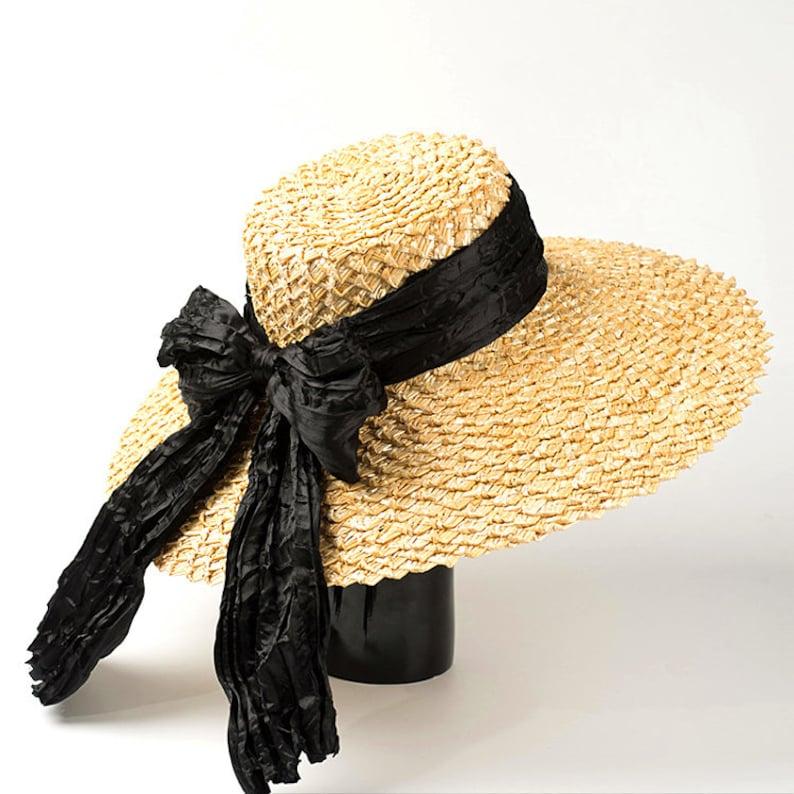 a3476b71beb39 Spring summerSummer Chick Natural Beach Straw Hat Big | Etsy