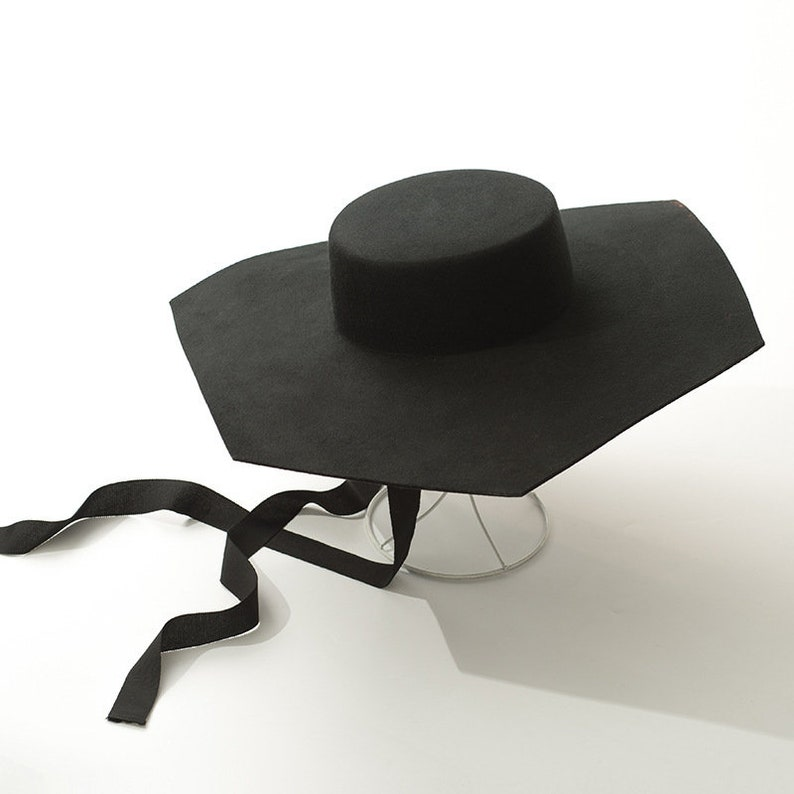fe1fa7a86e41c Six sided tablecloth hat with large eaves stage show concave