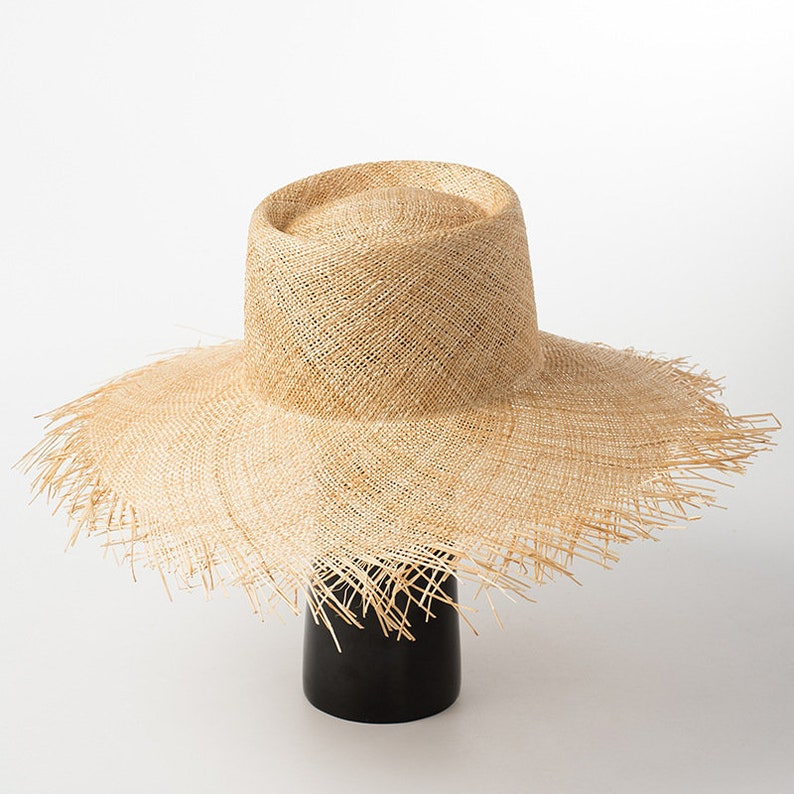 Round high top and large hair edge natural baocaocao straw hat  de51fb062d49