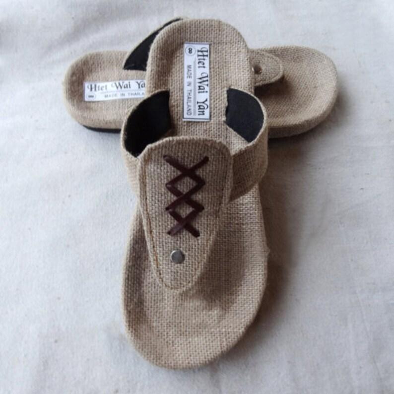461764df64938 Craft slippers Linen shoes hemp hemp straw sandals Cane straw sandals Light  absorption khan Men's slippers Craft slippers