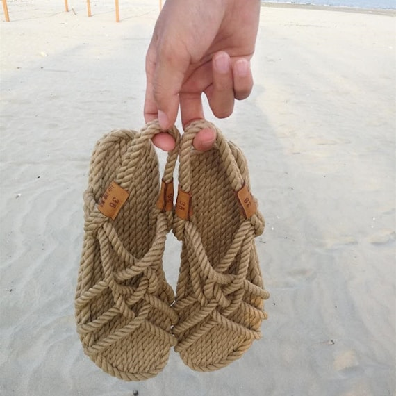 New Style Woven Straw Rope I Sandals Summer Flat Roman Student Toe Clippers Straw Sandals by Etsy