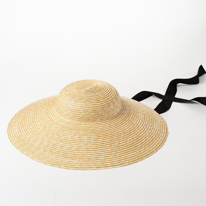 1950s Women's Hat Styles & History retro straw hat straw hat windproof tie beach resort sun protection hat brim New style straw hat  $49.00 AT vintagedancer.com