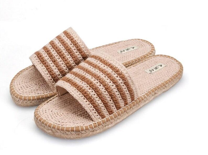 58aaaf80b5699b Summer new desert line handmade hemp shoes Slippers slippers a