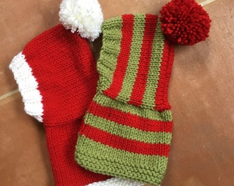 Made to order - Santa or elf hood in 4 sizes, IG, Whippet, Lurcher, Greyhound